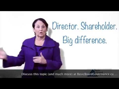 Director/Shareholder-Big Difference