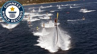 Largest water jet pack flight formation - Guinness World Records