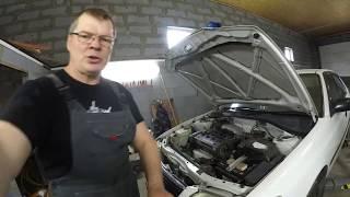 Тойота корона 4A FE замена термостата,установка электроподогрева 220в