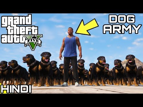 FRANKLIN'S DOG ARMY in GTA V | KrazY Gamer |