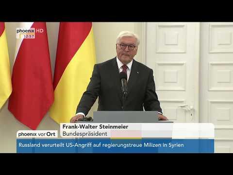 Pressekonferenz von Frank-Walter Steinmeier und Andrzej Duda am 19.05.17