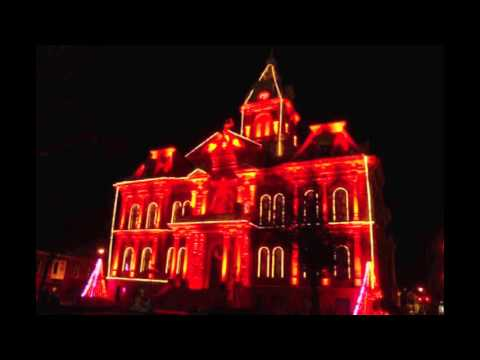 2015 Guernsey County Courthouse holiday light show