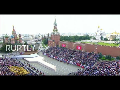 LIVE: Putin takes part in ceremony for Moscow's City Day in Red Square