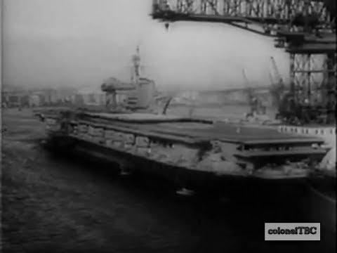 Commissioning of carrier USS Franklin D. Roosevelt (CV-42) - 27 October 1945