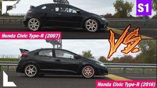 Forza Horizon 4 - Honda Civic Type-R ´07 VS Honda Civic Type-R ´16