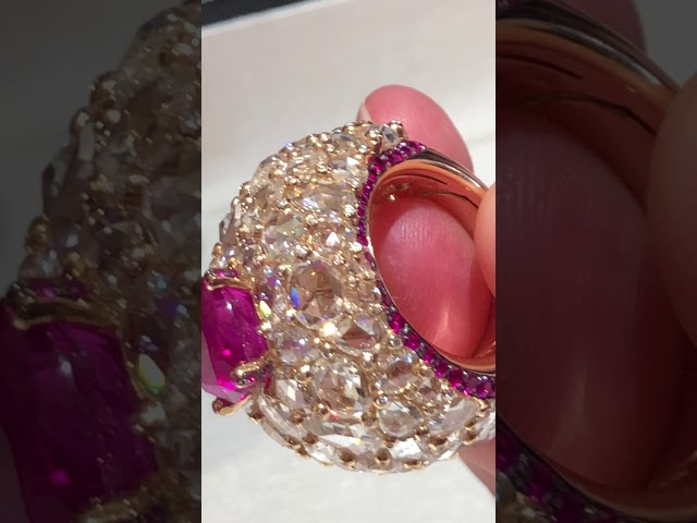 One of a kind ruby ring from De GRISOGONO