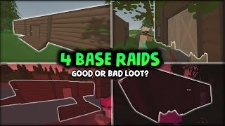 4 Vanilla Base Raids - GOOD OR BAD LOOT? - Unturned Vanilla Survival
