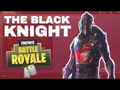 Fortnite Battle Royale - THE LEGENDARY BLACK KNIGHT! (Dancing With People!) Best Skin