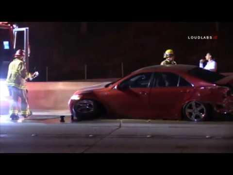 Multi Car Crash on 91 Freeway / Riverside 4 24 19
