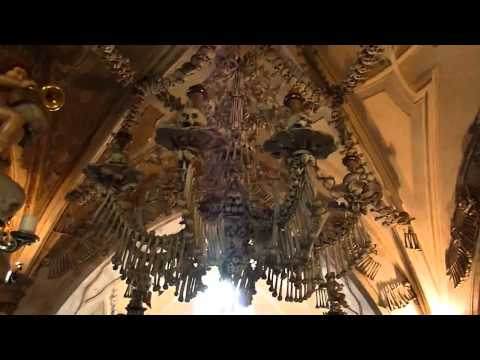 Inside the infamous Sedlec Ossuary in the Czech Republic.