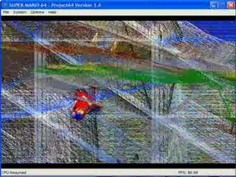 Super Mario 64 - wireframe hell