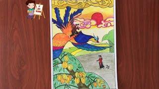 Vẽ sự tích Cây khế - Vẽ truyện cổ tích Cây Khế - Cách vẽ tranh minh họa truyện cổ tích cây khế