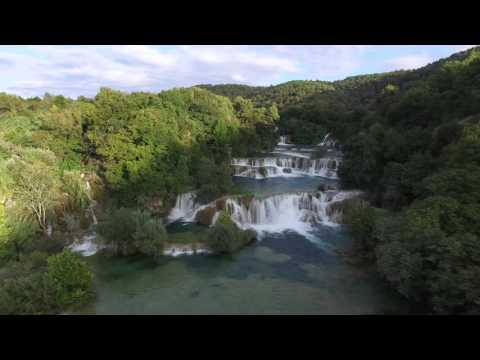 Krka Nationalpark, Waterfalls in 4k with DJI Phantom3 Pro