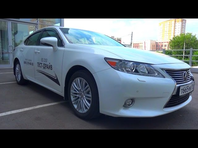 2015 Lexus ES250. Обзор (интерьер, экстерьер, двигатель).