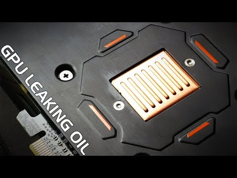 Why is there oil on my GPU? Graphics Card Mining maintenance