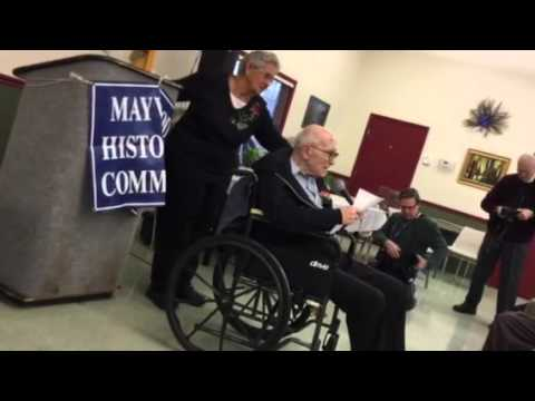 Len Rubin at the Betty Fetzer Maywood Historical Society's First Hall of Fame induction in January.