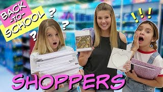 10 TYPES OF BACK TO SCHOOL SHOPPERS || CAN YOU RELATE || FT SOPHIE MICHELLE SAYS || Taylor & Vanessa