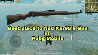 PUBG Mobile Best place to Find Kar98 sniper rifle (70% of chance)
