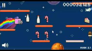 Nyan Cat: Lost in Space Game Play [FLASH GAME]
