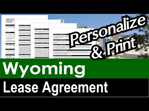 Wyoming Lease Agreement for Rental Property
