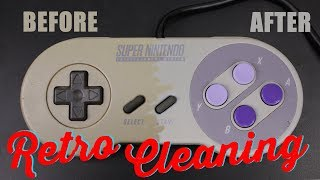 HOW TO CLEAN A SUPER NINTENDO CONTROLLER   REMOVE YELLOWING- MOD MONDAY EP4