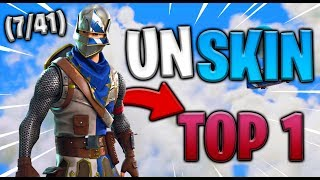 A SKIN - A TOP 1 (7/41) SOLO GAMEPLAY FORTNITE (9 KILLS)