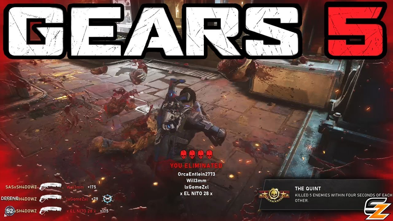 GEARS 5 BEST MOMENTS! - GEARS 5 Tech Test Versus Multiplayer Gameplay! thumbnail