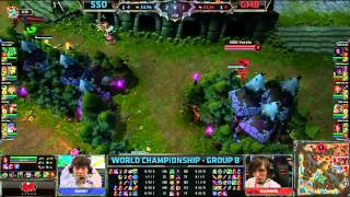 SSO vs GMB | Samsung Galaxy Ozone vs Gambit Gaming | Worlds 2013 Day 4 Group A | Full game HD D4G1