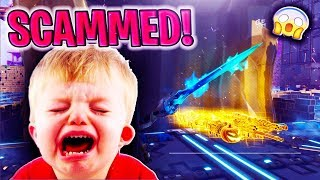 I Scammed a SCAMMER And He QUIT Fortnite *RAGE* (Scammer Gets Scammed) - Fortnite Save The World