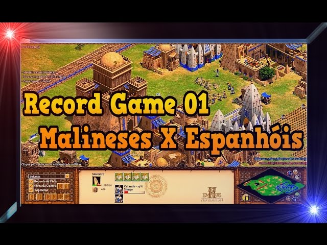 Age of Empires 2 HD 1x1 Arena Malineses X Spanish AoE2HD Gameplay PT BR RG 01