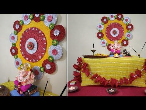 Ganpati Decoration ideas for Home,easy Ganesh Decoration ideas,eco friendly Ganesh Chaturthi 2019