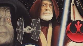 ZWOOKIEZ #43 Speed Drawing Obi-Wan Kenobi Alec Guinness Portrait