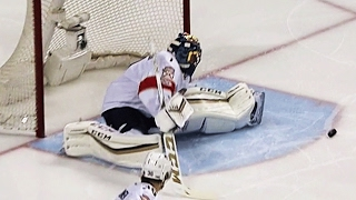 Luongo denies Burns with quick toe save