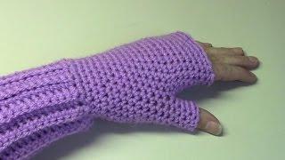 Haken - tutorial #148: polswarmers - fingerless gloves
