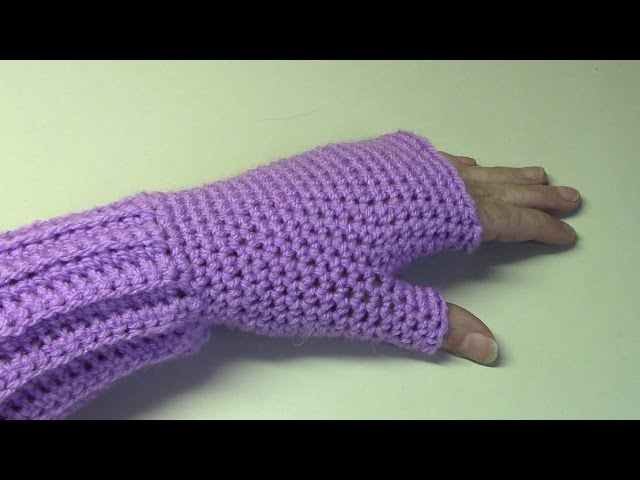 Haken Tutorial 148 Polswarmers Fingerless Gloves Youtube