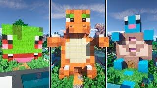 CASA BULBASAUR vs CASA CHARMANDER vs CASA SQUIRTLE   Minecraft