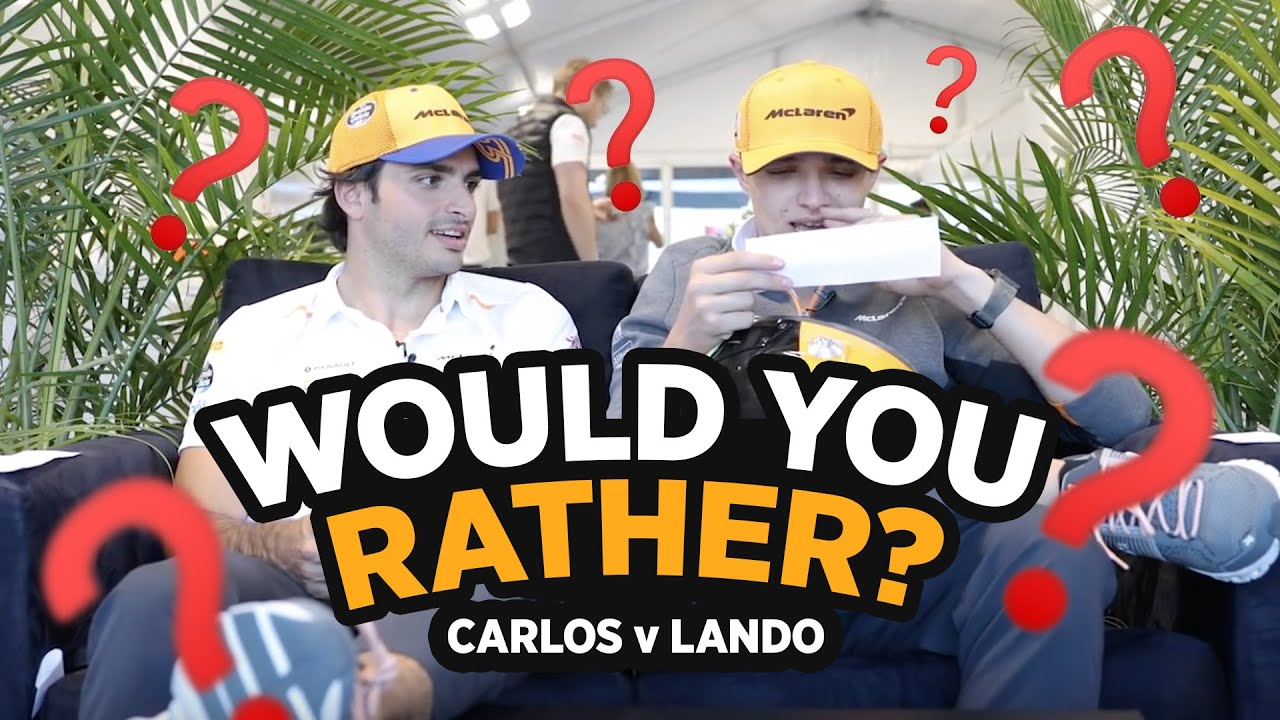 Carlos Sainz and Lando Norris play 'Would You Rather' - Motor Informed