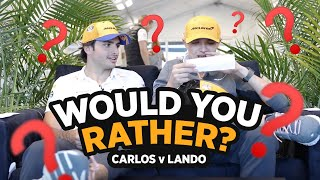 Carlos Sainz and Lando Norris play 'Would You Rather'