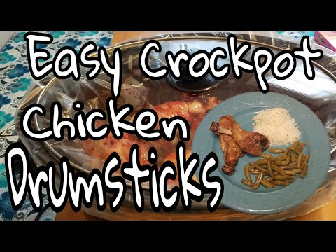 How To Cook Chicken Drumsticks In A Crockpot || Affordable Dinner
