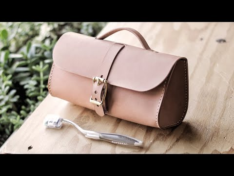 Making A Leather Toiletry Kit