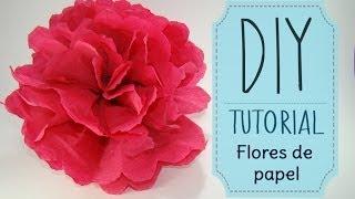 [DIY] Tutorial - Como hacer flores de papel Crepe o China