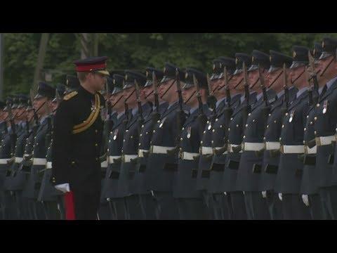 Prince Harry visits RAF Honington for 75th anniversary