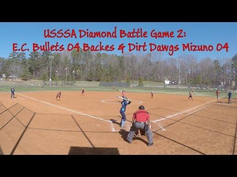 USSSA Diamond Battle Game2: EC Bullets 04 Backes & Dirt Dawgs Mizuno 04- Rabitsch