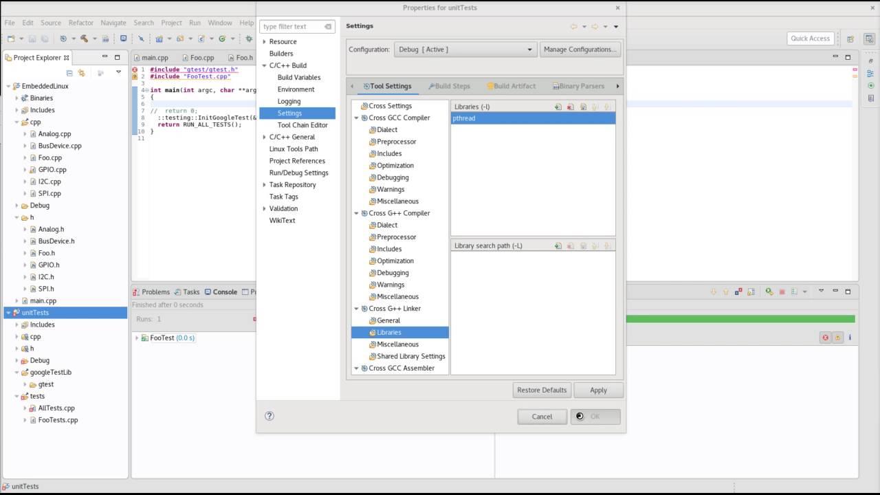 Google Test: Setup googletest in Eclipse