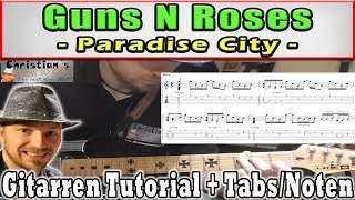 "★Guns n Roses PARADISE CITY  ""Introriff"" original picking 
