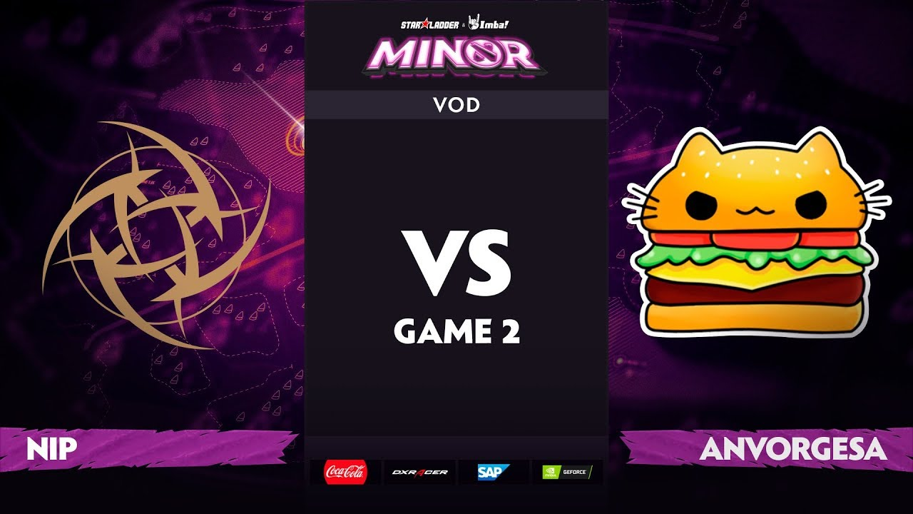 [EN] Ninjas in Pyjamas vs Anvorgesa, Game 2, StarLadder ImbaTV Dota 2 Minor S2, Playoffs