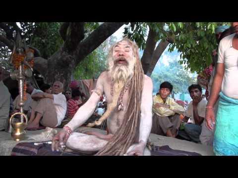 DHUNICAST Satsang Interview with Naga Baba Sri Shiv Raj Giri Ji at 2010 Haridwar Kumbh Mela