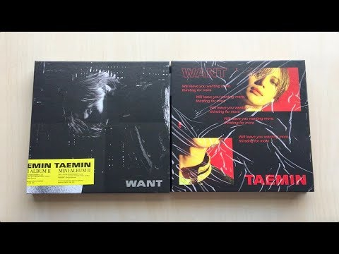 ♡Unboxing Taemin 태민 2nd Mini Album WANT 원트 (Want & More Ver.)♡ Mp3