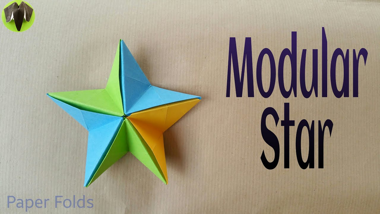 "Origami Tutorial to make an easy Paper ""Modular Star ... - photo#23"