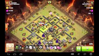 TH9 VS TH9 3 Queen walk and Hybrid  1 Golem  @ ハムかつさん